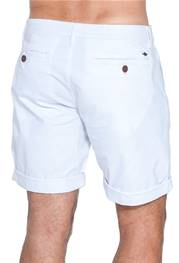 Bermudas chino stretch blanc